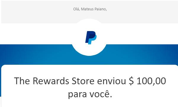 Pagamento Ysense $100 Paypal setembro 2019