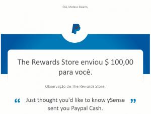Pagamento Ysense 100 Janeiro 2020