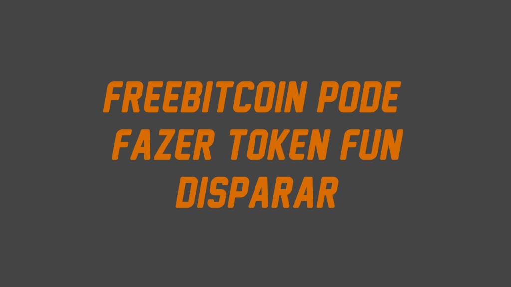 FreeBitcoin lança Token Fun com Cashback e valorização garantida