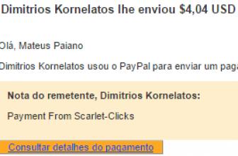 10º Pagamento $4,04 Scartlet Clicks 02 outubro