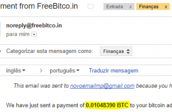 10º Pagamento FreeBitcoin 0.01 BTC 05 novembro 2017