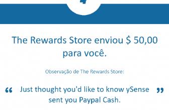 148º Pagamento Ysense $50 agosto 2020