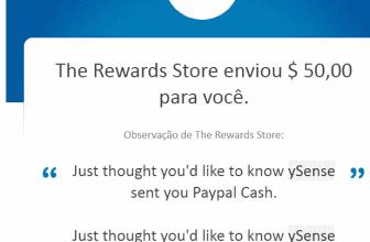 151º Prova de pagamento Ysense $50 setembro 2020