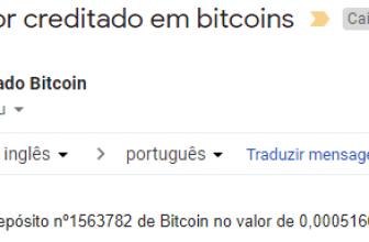 Pagamento CoinBulb 0.5 mBTC Outubro 2018
