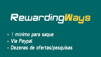 Rewarding Ways PAGA? Como funciona e como ganhar dinheiro