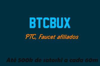BTCBux ganhe Bitcoin com faucet PTC e Ofertas