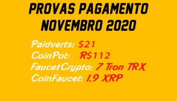 Prova pagamento CoinPot Paidverts FaucetCrypto e mais…
